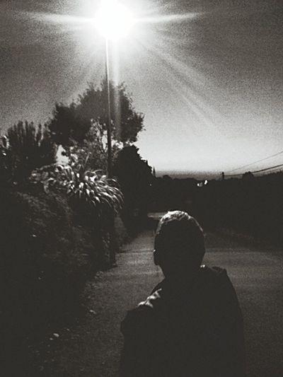 Lampadaire nuit homme