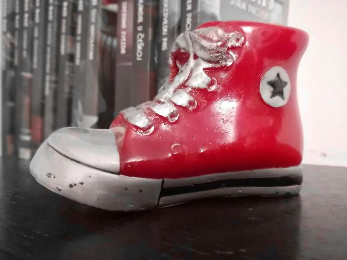 Allstar Wax Wax Shoe Shoe Allstar Red Red Color Red Shoes Red Ice Rink Close-up Bauble