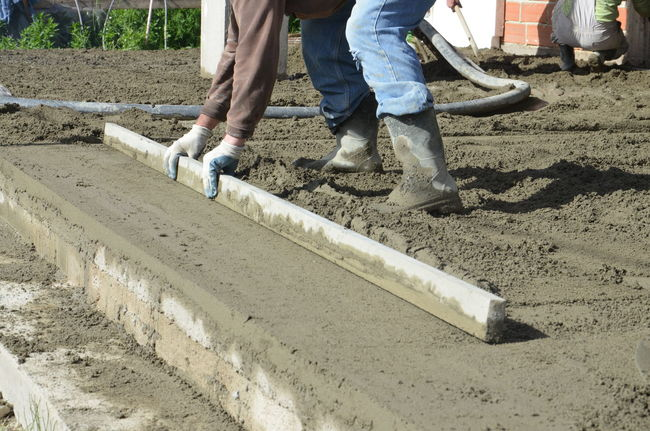 Cement Concrete Concreting Construction Site Construction Work Day Floor Flooring Grading Human Body Part Low Section New House Outdoors People Worker Workers