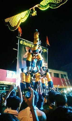 Indianfestival Lordkrishna Crowded Streetphotography Enjoying The Veiw  Incredible India Dahihandifestival