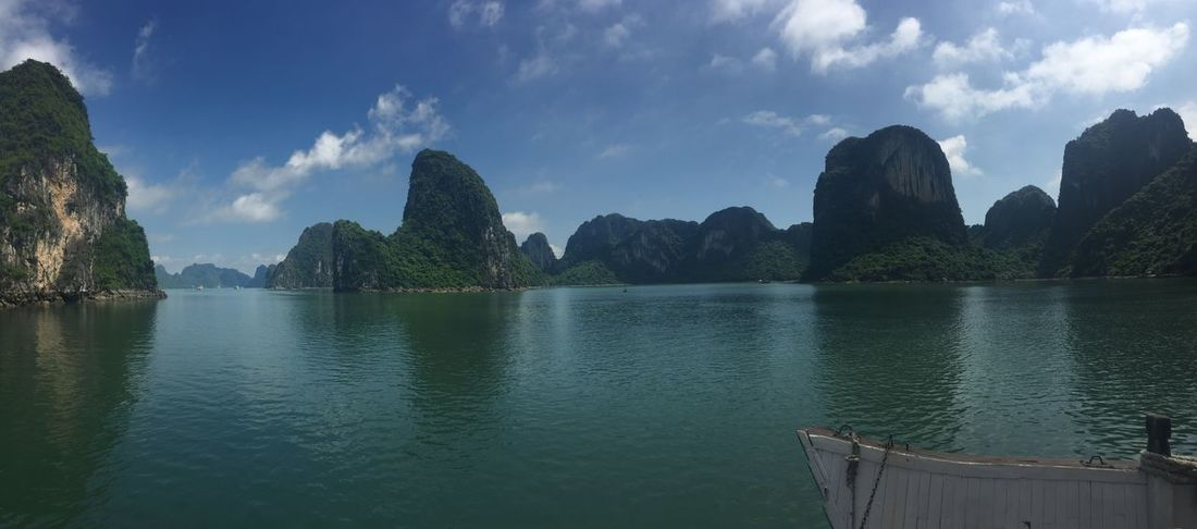 Ha Long Bay Ha Long Beauty In Nature Cloud - Sky Day Ha Long Bay Ha Long Bay Cruise Idyllic Mountain Nature No People Non-urban Scene Outdoors Plant Reflection River Scenics - Nature Sky Tranquil Scene Tranquility Tree Water Waterfront