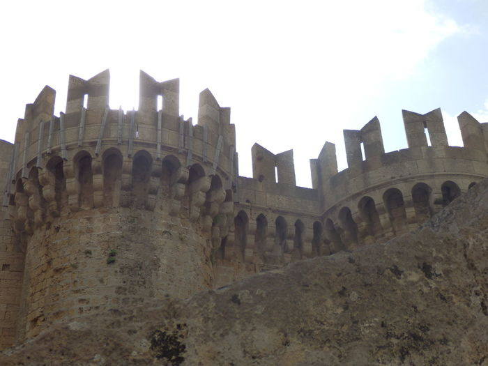 Architecture Building Exterior Castle Famous Place Greece History Knights Rhodes San Juan From Jerusalen Order Wall