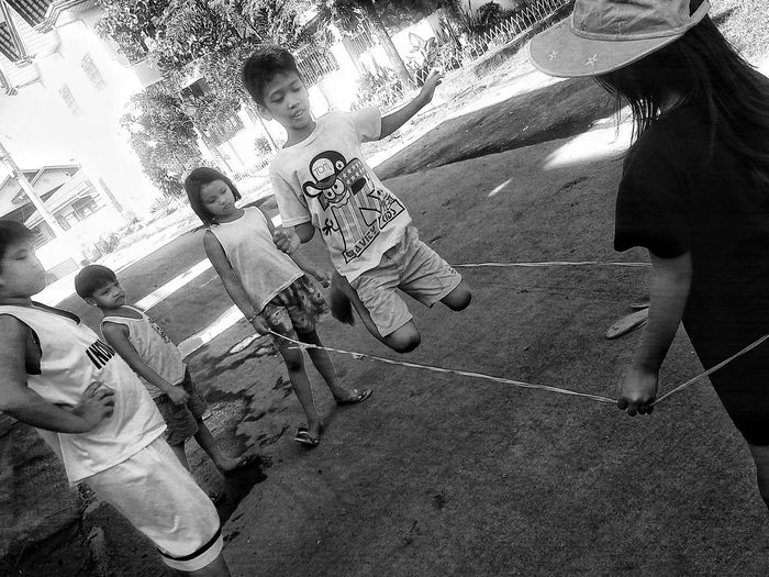 Chinese garter. Old filipino game. 9th Game Street Photography Blackandgrey Eyeem Philippines Pinoy Onlyinthephilippines