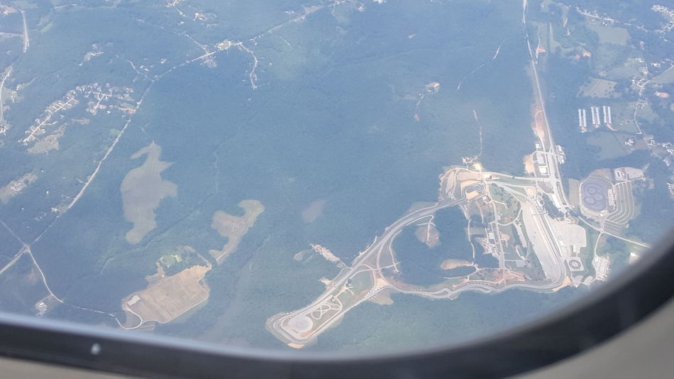 Road Atlanta from above Road Atlanta From An Airplane Window Motorsports