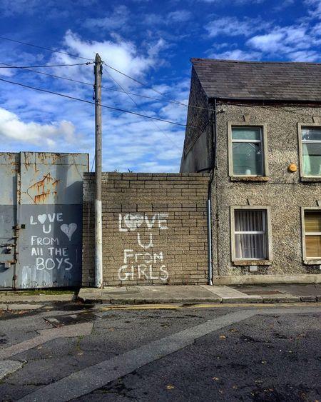 Love in Dublin Street Graffiti Industry Road No People Sky Dublin