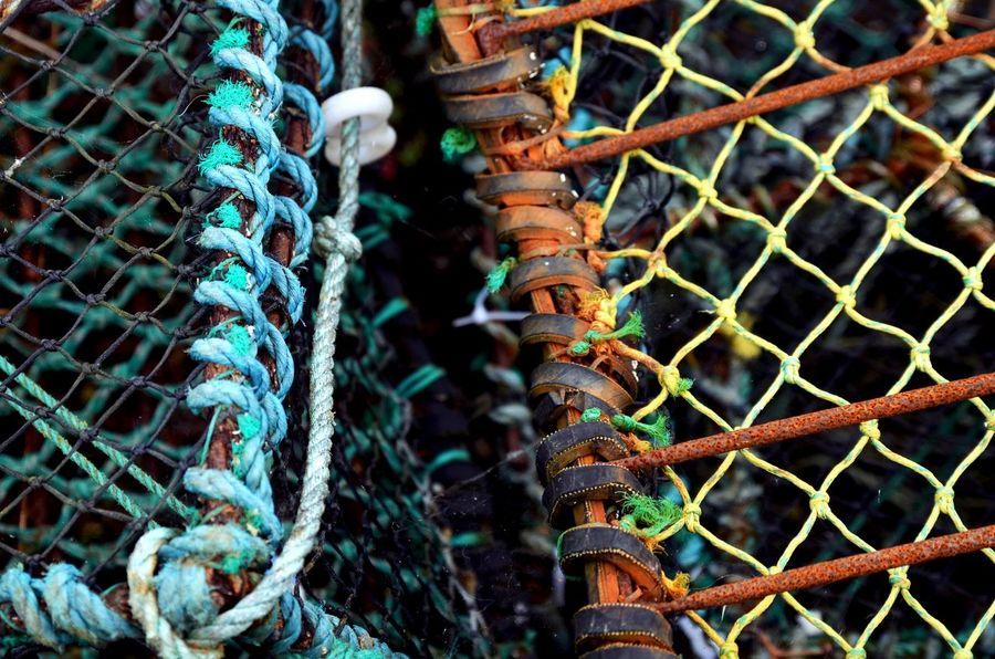 Cornwall, UK. Rope Cornwall Fishernet Nets Rusty Seaside first eyeem photo