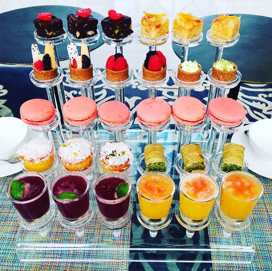 Deserts Food And Drink In A Row Drinking Glass Freshness Variation No People Food Drink Indoors  Choice Healthy Eating Ready-to-eat Day