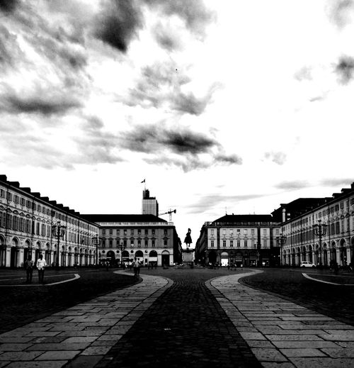 Square of a city Simmetry Simmetrical Building Cityscape Turin Citylife Blackandwhite City Architecture Built Structure Cloud - Sky Historic