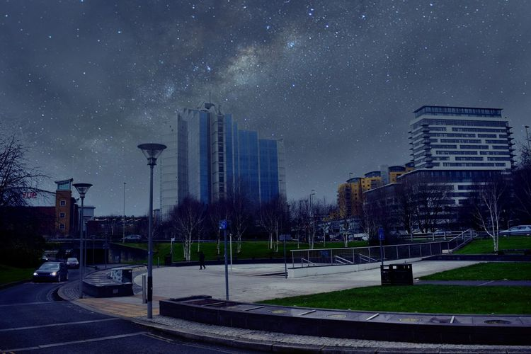 Town Nightphotography Skyporn Sky_collection Stars Buildings Road Cars Trees Taking Photos Eye4photography  Popular Photos Picoftheday Winter 2015