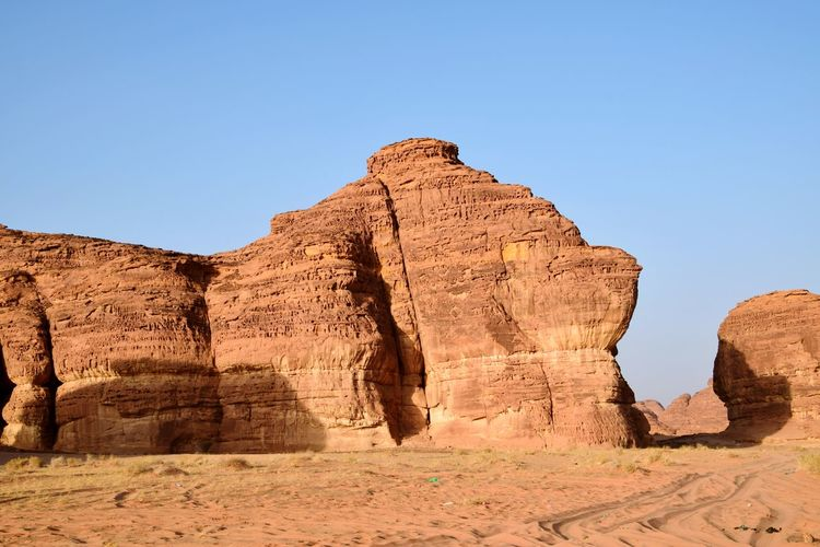 Al ula rock mountain, saudiarabia