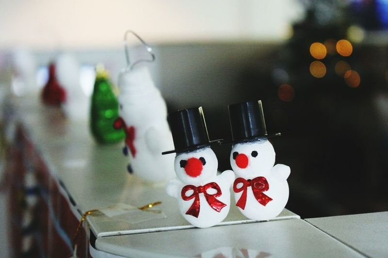 Close-Up Of Snowman