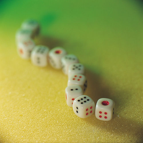 Dice still life concept creative design objects Attention Gambling Thinking Win Or Lose Awakening Betting Chance Close-up Concentrate Concept Consciousness Creative Dice Focus Gambling Idea Indoors  Leisure Games Luck No People Size Still Life Table