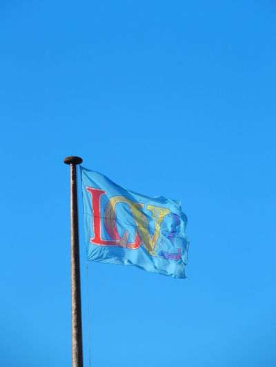 Blue Clear Sky Day Flag French Photographer London Londres Love No People Outdoors Sky