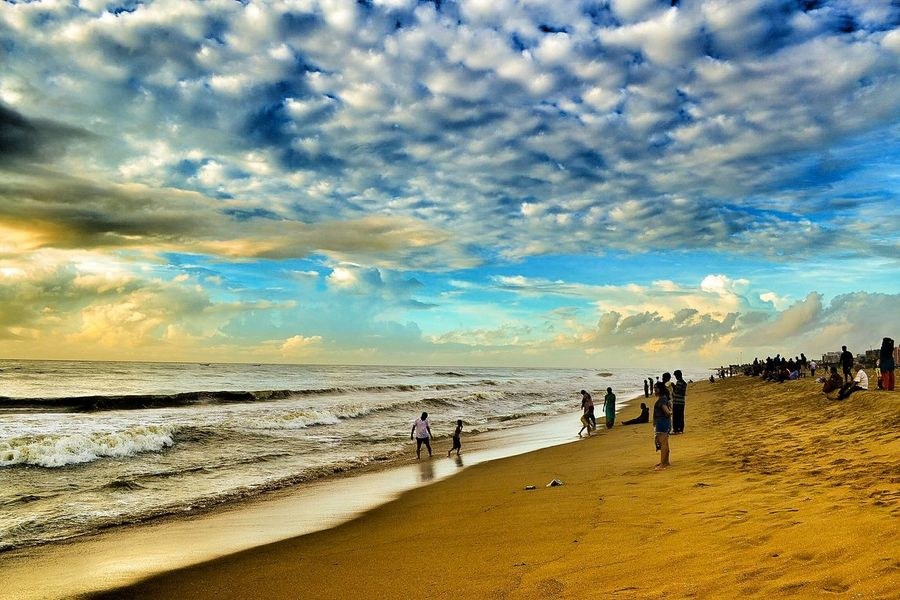 Monsoon Morning in Marina beach Clouds And Sky