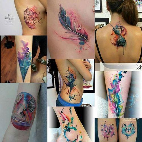 TattooGoals 2016BucketList WatercolorTattooAddict Loveink Tattooedwoman