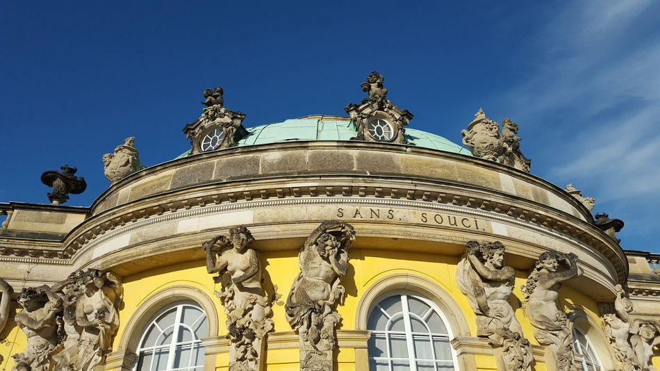 Sans Souci Castle Schlosspark Potsdam Schloss Architecture Clear Sky History No Edit/no Filter The Architect - 2017 EyeEm Awards Your Ticket To Europe Paint The Town Yellow