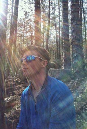 My Sonshine... ;) Hiking Taking A Break