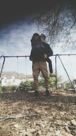 Went To The Park With My Hubby Today????The Best Husband Ever I Love Himm ?
