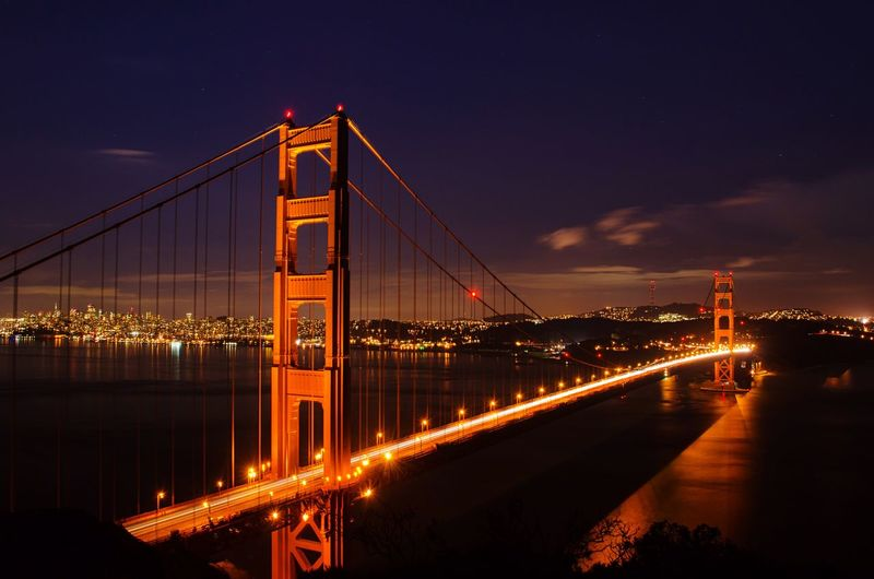 Clear night for some shots of this beauty - the last in my Golden Gate series! Architecture Light And Shadow Urban Nature San Francisco EyeEm Best Shots Precision Water Reflections