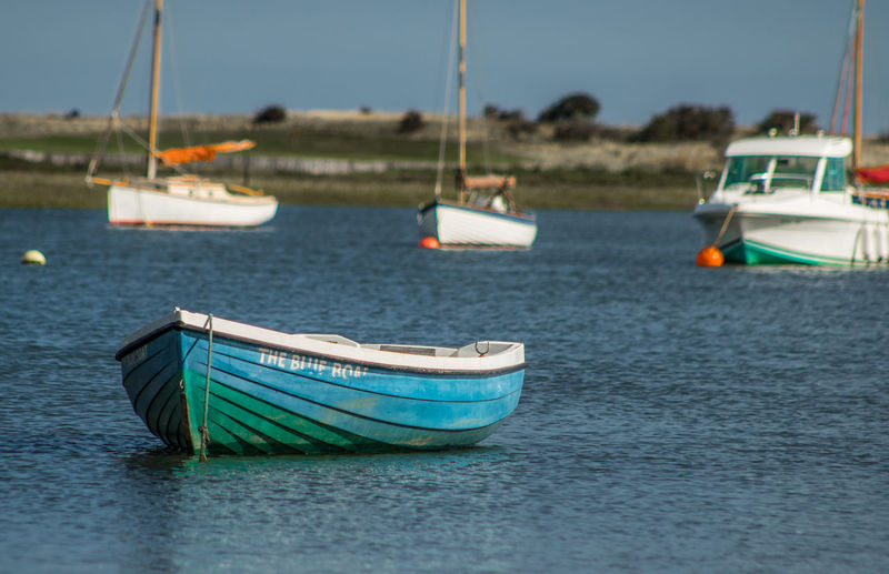 Beauty In Nature Boat Brancaster Staithe Close-up Day Focus On Foreground Mode Of Transport Moored Nature Nautical Vessel No People Outdoors Sea Sky Transportation Water Waterfront
