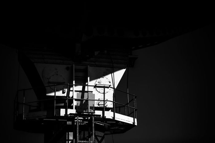 Architecture Building Built Structure Dark Illuminated Interior Low Angle View Modern No People Satalite Dish Shadow Sky