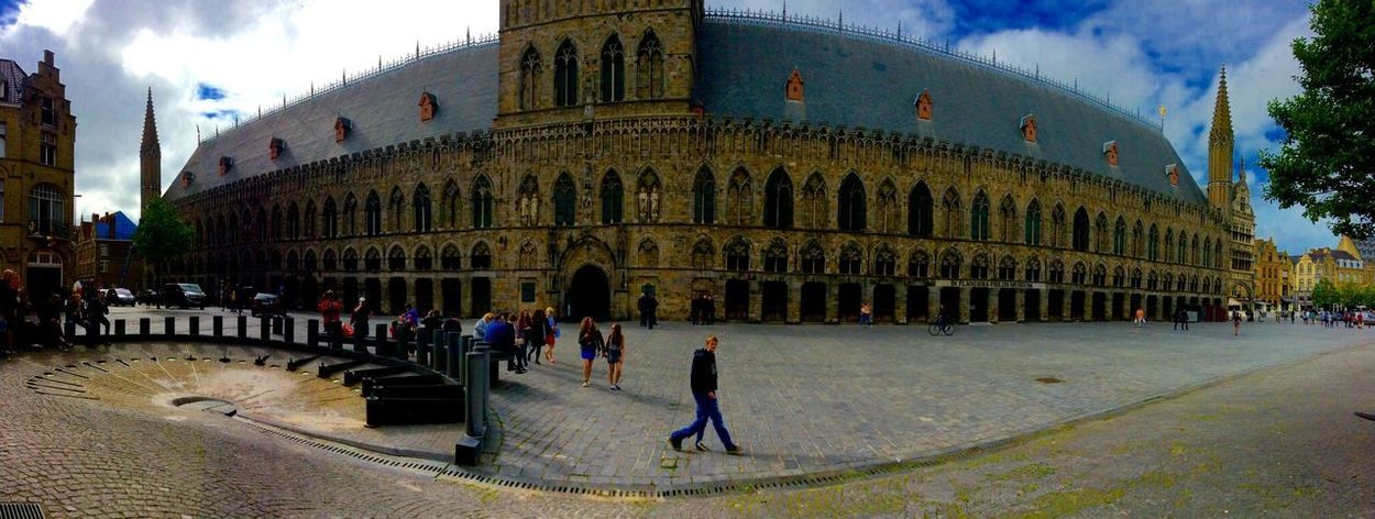 Architecture Building Exterior Built Structure Large Group Of People Walking City City Life Person Travel Destinations Famous Place Tourism Tourist Full Length Sky In Front Of Arch History Façade Day Outdoors Church Belgium Ww1 Ww1 Museum Adventures In The City