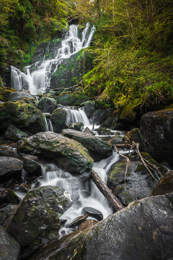 Water Waterfall Rock Long Exposure Rock - Object Plant Solid Scenics - Nature Forest Tree Beauty In Nature Motion Nature Environment Flowing Land No People Outdoors Stream - Flowing Water Rainforest Power In Nature Purity Falling Water Torc Waterfall Ireland