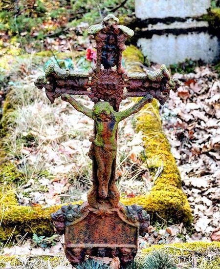 Abandonedgraveyard Cross Crucifix Crucifixion Poland Wroclaw Wroclove