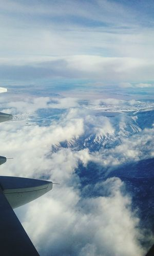 Flying Flying High Airplane Sky Above The Clouds Mountains Mountain View Snowy Mountains Snowymountaintops Flying In The Sky Planephotography Let's Go. Together.