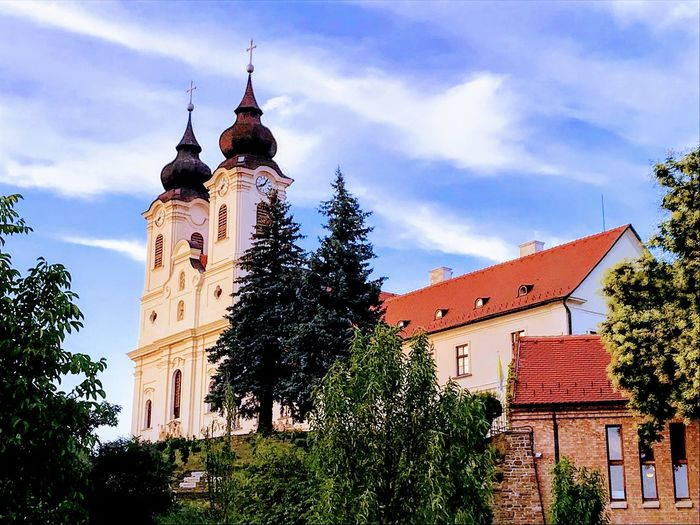Tihany Abbey Building Exterior Built Structure Architecture Sky Building Cloud - Sky Low Angle View