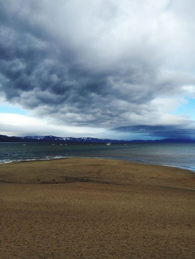 Lake Tahoe, Ca Beach Wintertime Tahoe Beach Beach Mountains Cloudy Day Storm Cloud The Great Outdoors - 2017 EyeEm Awards