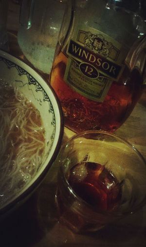 Eating Noodles Scotch Whisky Bar Time  Before Show