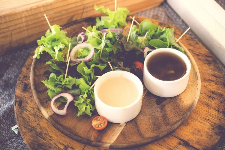 High Angle View Freshness Indoors  Herb Food And Drink No People Healthy Eating Table Food Plant Bowl Growth Ready-to-eat Day Close-up Nature Green Color Salad Salad Vegetable
