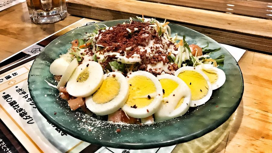 japanese salad Yummy Asian  Dinner Lunch Nutrition Healthy Egg Salad Japanese  Food And Drink Food Ready-to-eat Freshness Table Plate Serving Size Healthy Eating Restaurant Vegetable