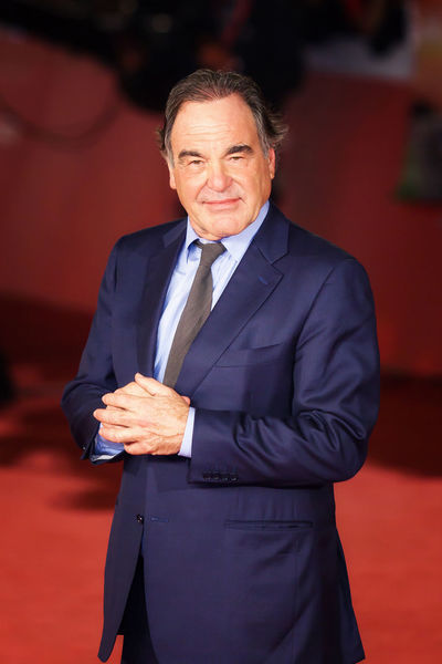 Rome, Italy - October 14, 2016: American film director Oliver Stone on the red carpet of the 11th edition of the Rome Film Festival Blue Director; Famous People Filmaker Front View Oliver Stone Platoon Red Carpet Rome Film Festival