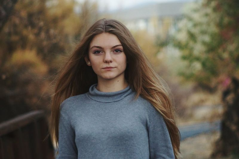 After Rain Chilly Day Nature Fall Portrait Beauty People Outdoors Long Hair Casual Clothing Beauty In Nature Lifestyles Looking At Camera Headshot Nature