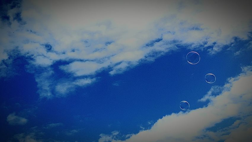 Tranquility Sky Blue Cloud - Sky Cloud Day Outdoors Sky Only Majestic Bubbles Bubbles In The Sky