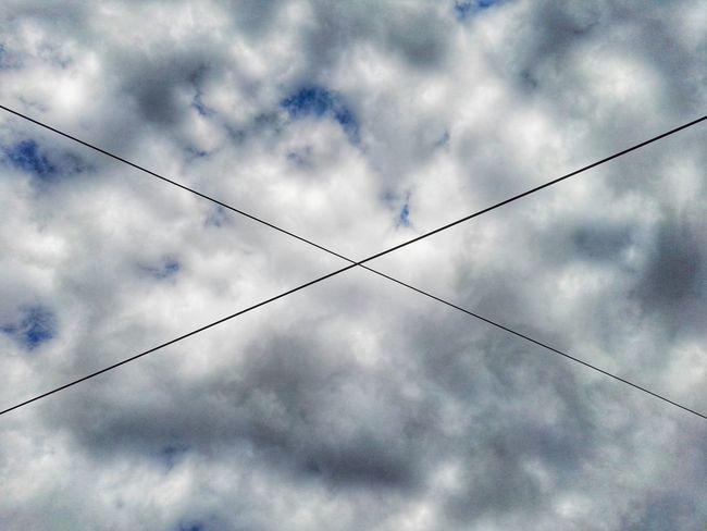 Wires Kabel Himmel Sky Blue Sky Blauer Himmel