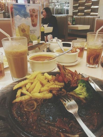 just had night snack with bro.