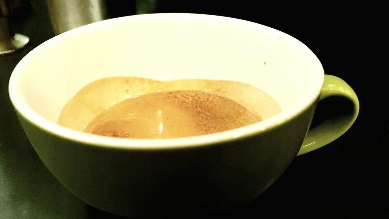 Close-Up Of Espresso In Cup On Table