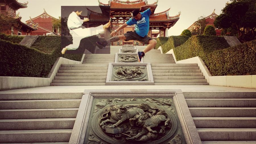 """my Jumpshot / Flyingkick was ruin by this taekwondo karate guy..found out he's jealous of a me..he said """" Fatguycantjump !!"""""""
