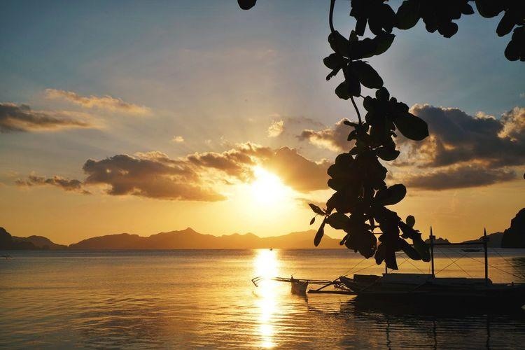 One of many beautiful sunsets at Corong Corong Elnido Sunset