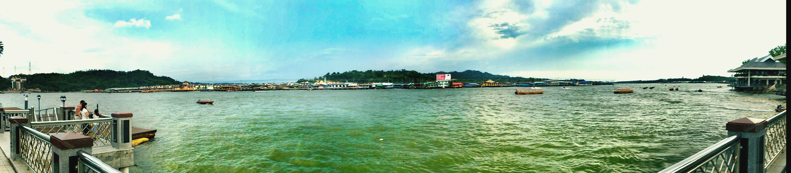 Panorama-Pic of Kampong Ayer a.k.a Water Village at Brunei Darussalam . Open Edit Check This Out EyeEm Best Shots EyeEm Brunei Brunei Panorama