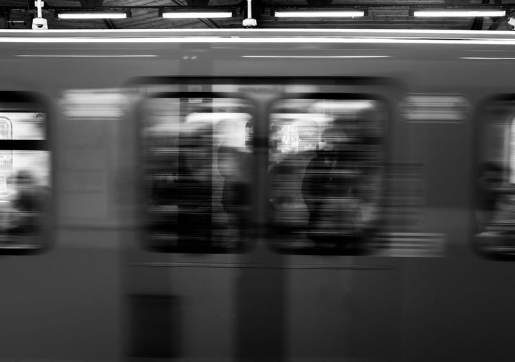Photography In Motion Berlin Schlesisches Tor Metro Metro Station Train Showing Imperfection