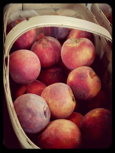 Fresh peaches Food