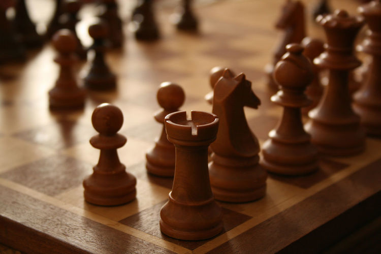 Board Game Chess Chess Board Chess Game Chess Piece Close-up Day Focus On Foreground Indoors  King - Chess Piece Knight - Chess Piece Leisure Games No People Pawn - Chess Piece Queen - Chess Piece Still Life Strategy Wood - Material