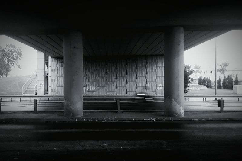 Underbridge Built Structure Architecture Bridge - Man Made Structure Road Street Engineering Bridge Architectural Column Empty Road City Life Tunnel Day Outdoors Connection Motorbike Bnw Columns Bigthings Eyeemphoto Black And White Friday Adventures In The City The Street Photographer - 2018 EyeEm Awards