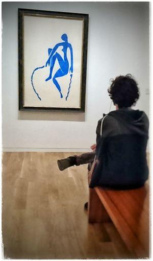 Die Seilspringerin von Matisse Matisselike Berggruen Museum Berggruen Blau Bluebeauty Bluebeautiful