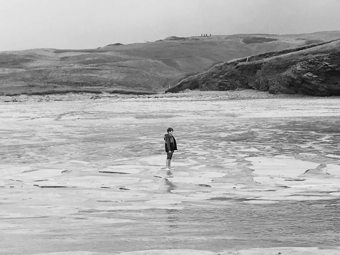 No one around Real People Nature One Person Outdoors Scenics Full Length Landscape Lifestyles Water Beachphotography Landscape_Collection Leisure Activity Cornwall Uk Just Standing Around Blackandwhite EyeEm Best Shots Photography My Boy Love Of Nature Lost In The Landscape