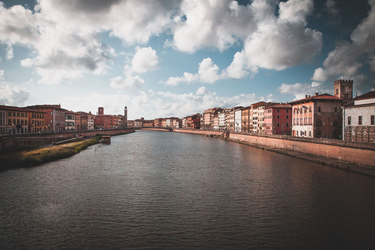 Lungarno view in pisa